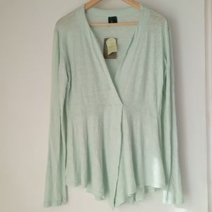 Anthro Left of the Center S Signy Mint Tunic Top